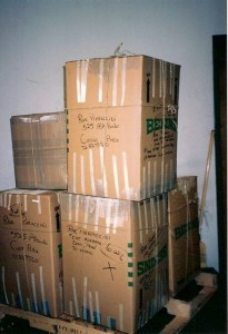 1987-1995 Supplies Collected & Shipped to CW